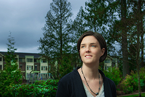 For her doctoral research, Sara Barron will study how to balance natural forest environments with higher density housing in suburbs. Martin Dee Photograph