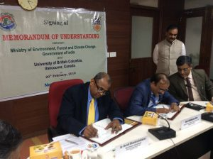 MoU signing in India