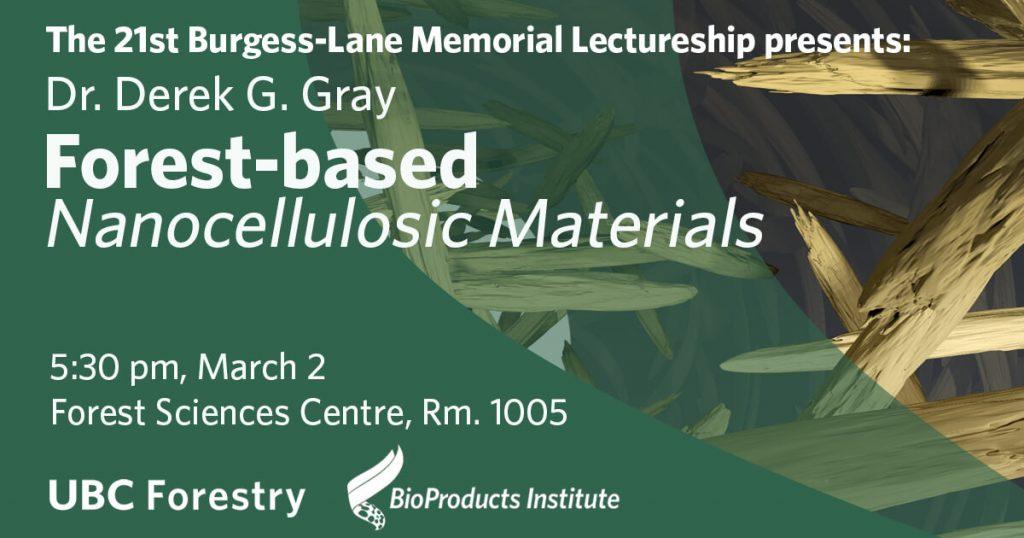 Burgess-Lane Public Lecture (March 2, 2020) - Post Banner